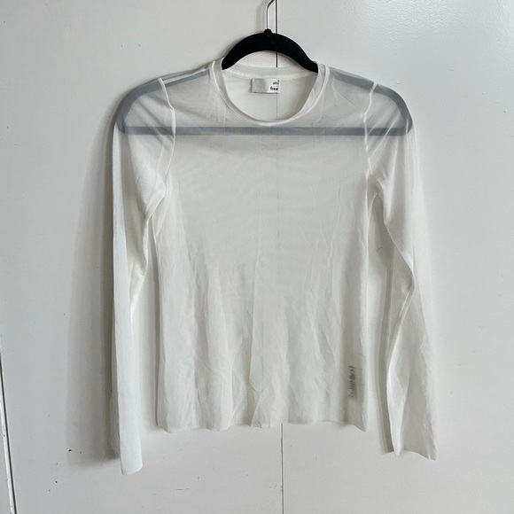 Wilfred free white sheer long sleeve shirt!